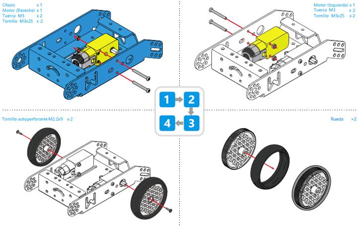 Montaje mBot pasos 1-4